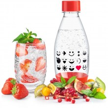 SodaStream Kinderflasche 0,5l Smiley rot