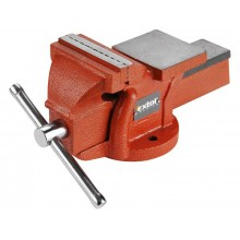 EXTOL PREMIUM bench vice 125mm, fixed base with anvil, 9.6kg 8812613