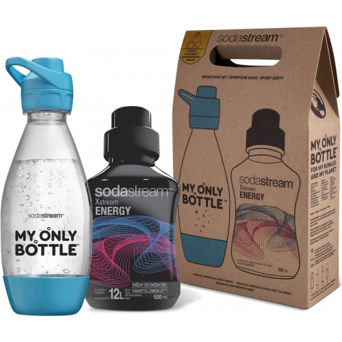 SodaStream Sports Set Flasche 0,6 l + Energy SODA