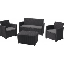ALLIBERT CORONA Lounge Set, anthrazit/grau 17198017