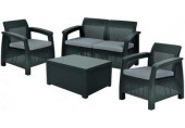 ALLIBERT CORFU BOX Loungeset, graphit/grau 17200180