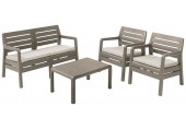 ALLIBERT DELANO Lounge Set, braun/beige 17201088