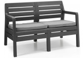 ALLIBERT DELANO Garten-Bank 124 x 65 x 77cm, graphit/grau 17205384