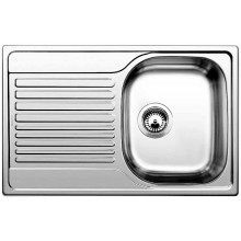 BLANCO TIPO 45 S Stainless steel brushed finish, 513442