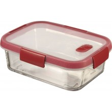 CURVER SMART COOK 0,9 L Glasbehälter 20x15x7cm Transparent/Rot 00114-472