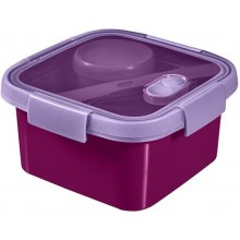 CURVER SMART TO GO 1,1L Lunch Box 16x16x9cm lila 00950-Y34