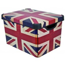 CURVER Decobox Stockholm L Union Jack, 39,5 x 29,5 x 24 cm, 04711