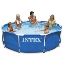 INTEX Metal Frame Pool - 305 x 76 cm , 28200NP