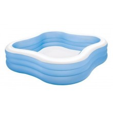 INTEX Schwimm Center Family Pool 229 x 229 x 56 cm (blau) 57495
