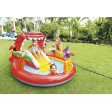 INTEX Happy Dino Play Center Aufblasbares Schwimmbad Kinderspiel 57163NP