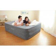 INTEX COMFORT-PLUSH QUEEN Luftbett mit integr. Elektropumpe 152 x 203 cm 64418