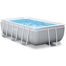 INTEX Prism Frame Rectangular Pools 4m x 2m x 1m, mit Filteranlage 26788GN