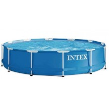 INTEX Metal Frame Pool 4,57m x 0,84m mit Filteranlage 28240GN