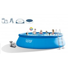 INTEX Easy Set Pool 549 x 122 cm + Kartuschenfilteranlage, 28176GN