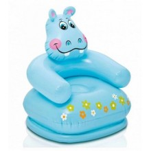 INTEX HAPPY ANIMAL CHAIR Kinderstuhl 65 x 64 x 74 cm, Flusspferd 68556
