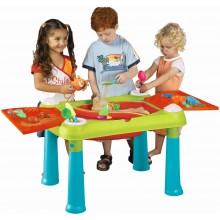 KETER CREATIVE FUN TABLE Kinderspieltisch türkis/rot 17184058