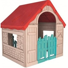 KETER FOLDABLE PLAY Spielhaus, beige/rot/blau 17202656