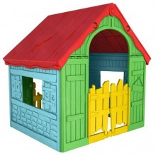 KETER FOLDABLE PLAY House Spielhaus gelb/rot/blau, 17202656