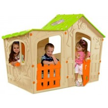 KETER MAGIC VILLA Kinderspielhaus, beige/grün 17190655