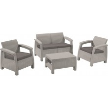 ALLIBERT CORFU Loungeset, grau 17197361