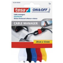 TESA On & Off Cable Manager- klein, 12 mm x 200 mm 55236
