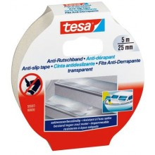 TESA Anti-Rutschband Transparent 5m x 25mm 55587
