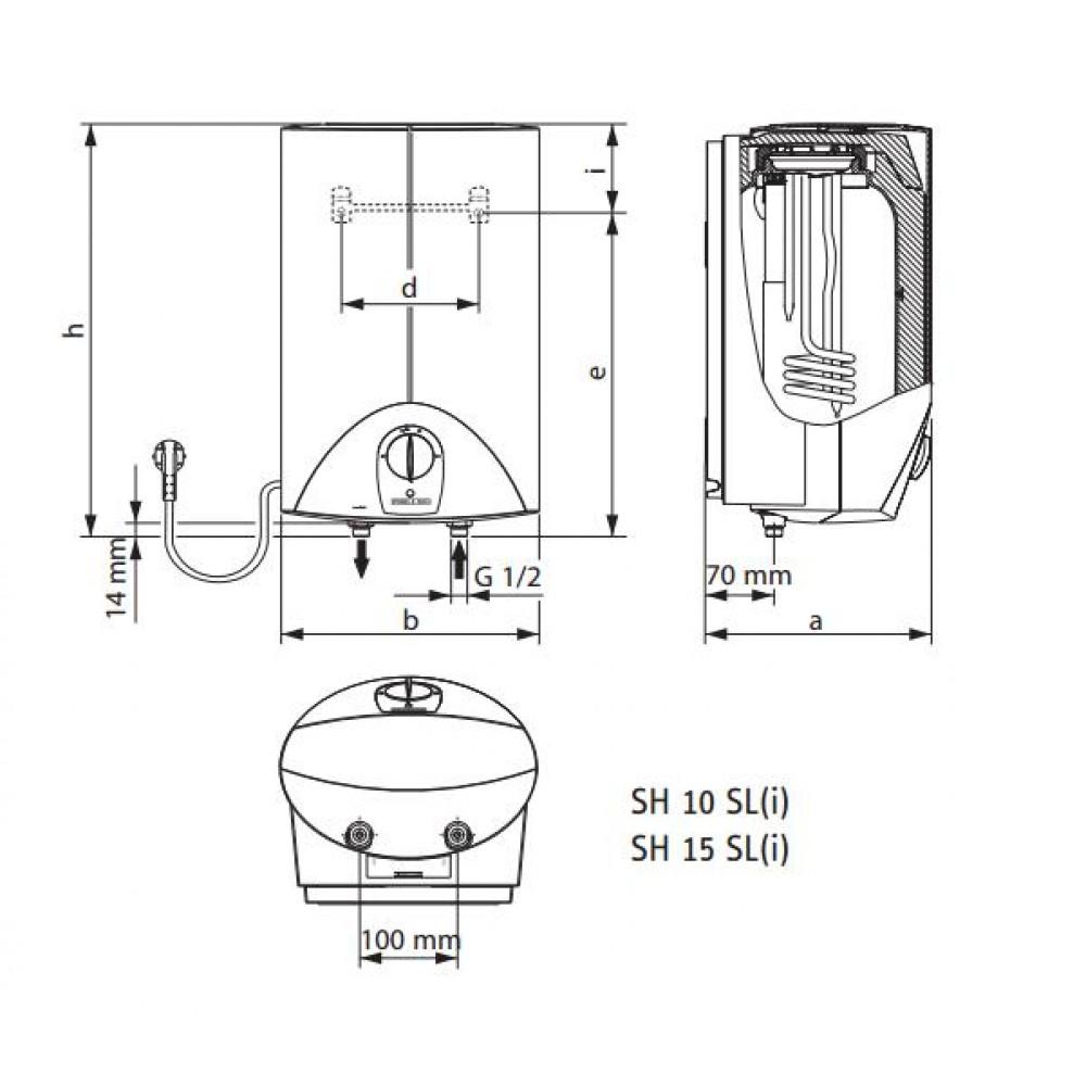 stiebel eltron sh 15 sl kleinspeicher 3 3 kw druckfest 229479. Black Bedroom Furniture Sets. Home Design Ideas