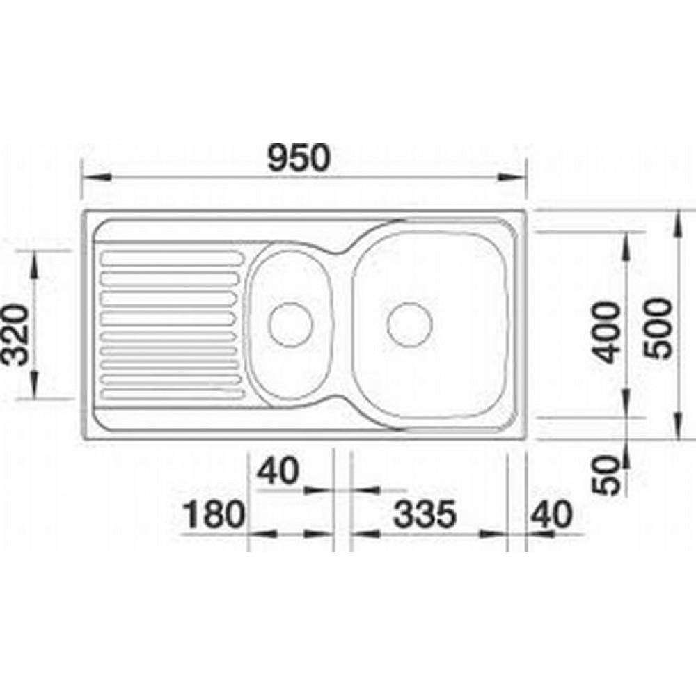 blanco tipo 6 s naturfinish edelstahl sp le 517153. Black Bedroom Furniture Sets. Home Design Ideas