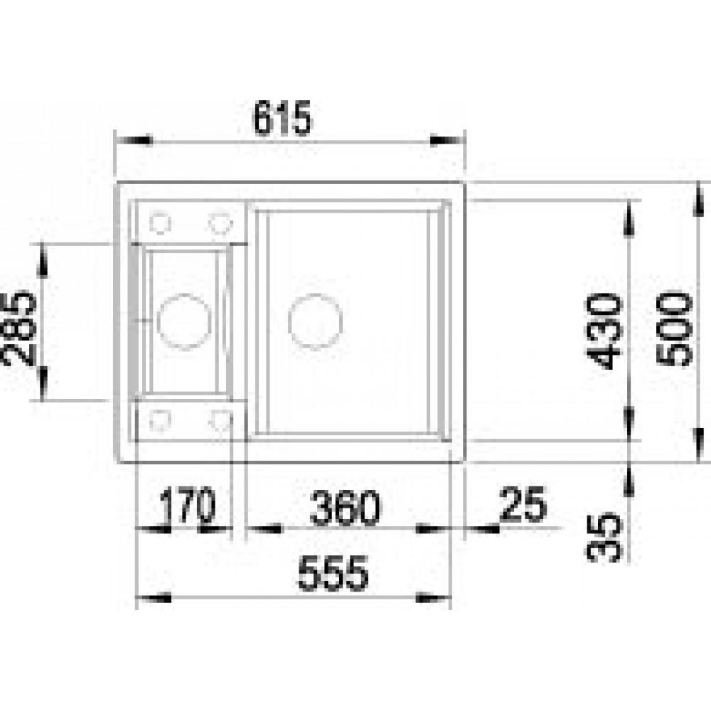 Blanco metra 6 kuchenspule anthrazit 516179 siphon komplett for Blanco küchenspüle