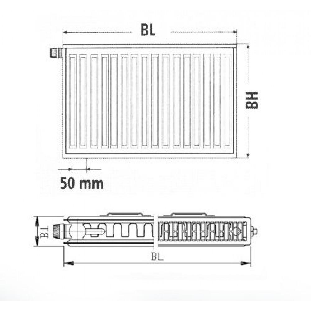 kermi therm x2 profil v heizk rper 12 600 1000 ftv120601001l1k. Black Bedroom Furniture Sets. Home Design Ideas