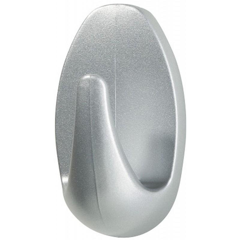 tesa powerstrips haken small oval matt chrom 57519. Black Bedroom Furniture Sets. Home Design Ideas