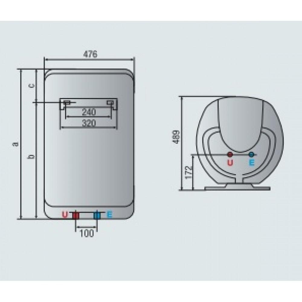 Ariston shape premium 100 v warmwasserspeicher 3626081 for Ariston shape premium 100