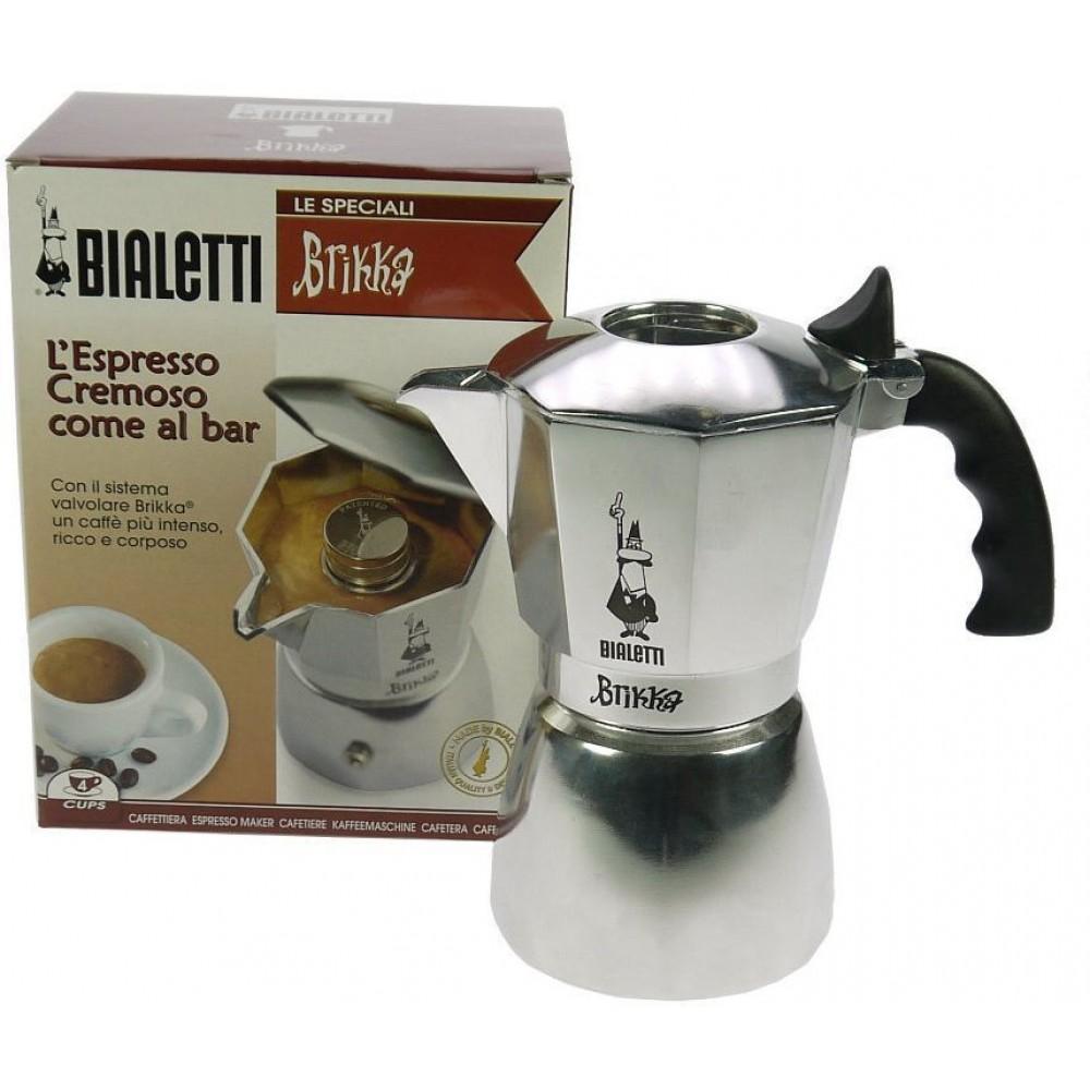 bialetti brikka 4 tassen espressokocher mit cremaventil 2160199316. Black Bedroom Furniture Sets. Home Design Ideas