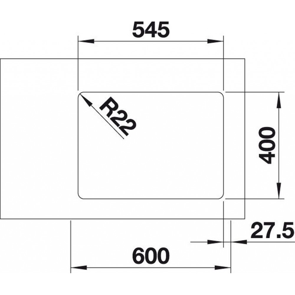blanco andano 500 u unterbausp le infino seidenglanz mit zugknopf 522968. Black Bedroom Furniture Sets. Home Design Ideas