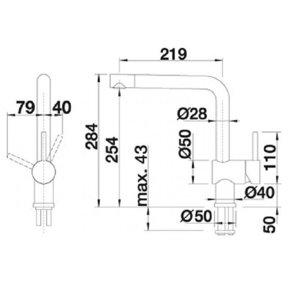 blanco linus f k chenarmatur hd chrom 514025. Black Bedroom Furniture Sets. Home Design Ideas