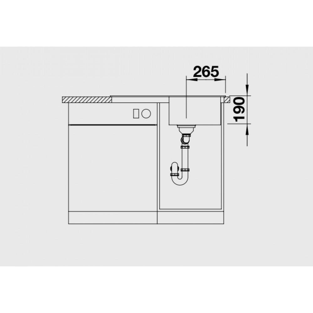 blanco sona 45 s sp le silgranit anthracit 519662. Black Bedroom Furniture Sets. Home Design Ideas