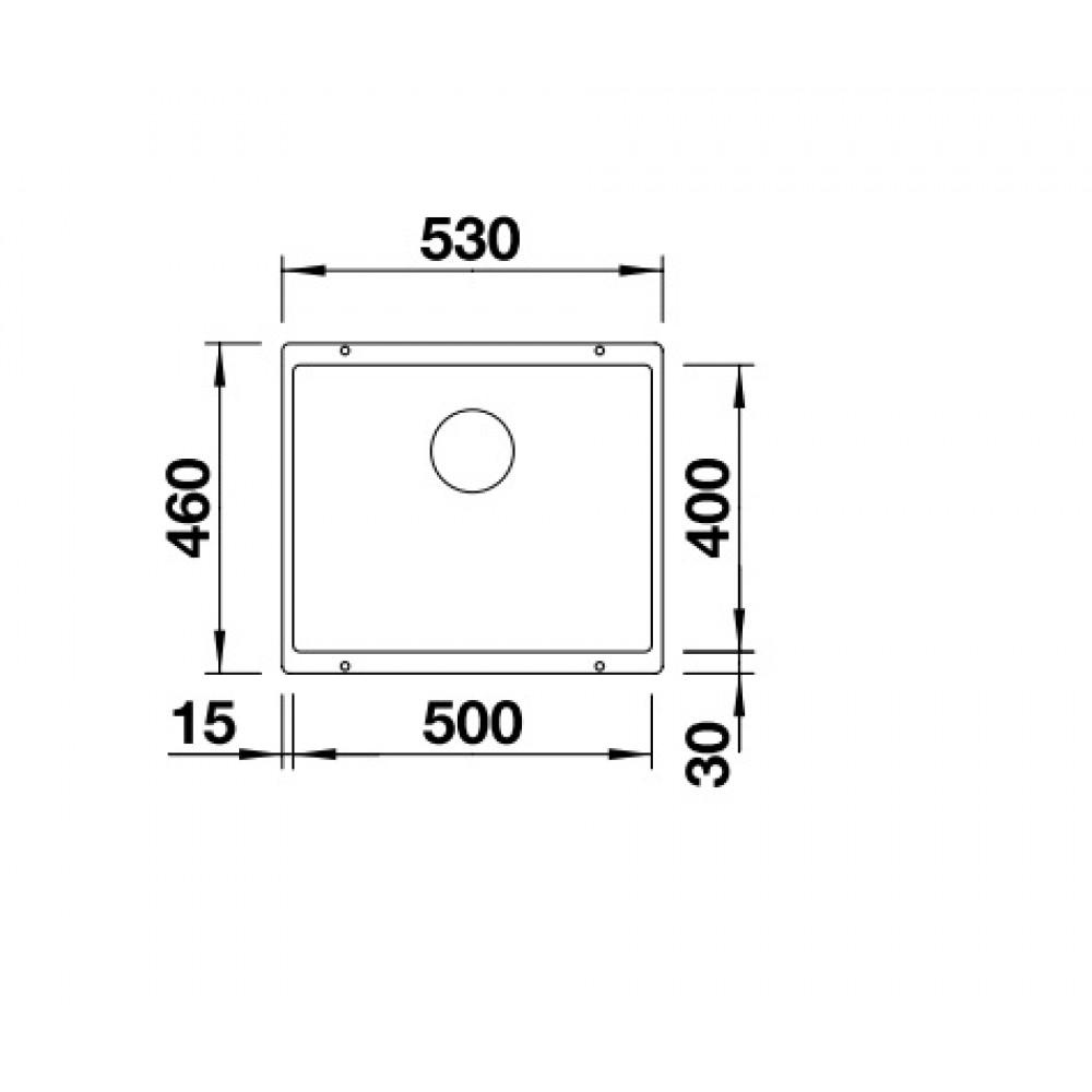 blanco subline 500 u silgranit sp le champagner 513953. Black Bedroom Furniture Sets. Home Design Ideas