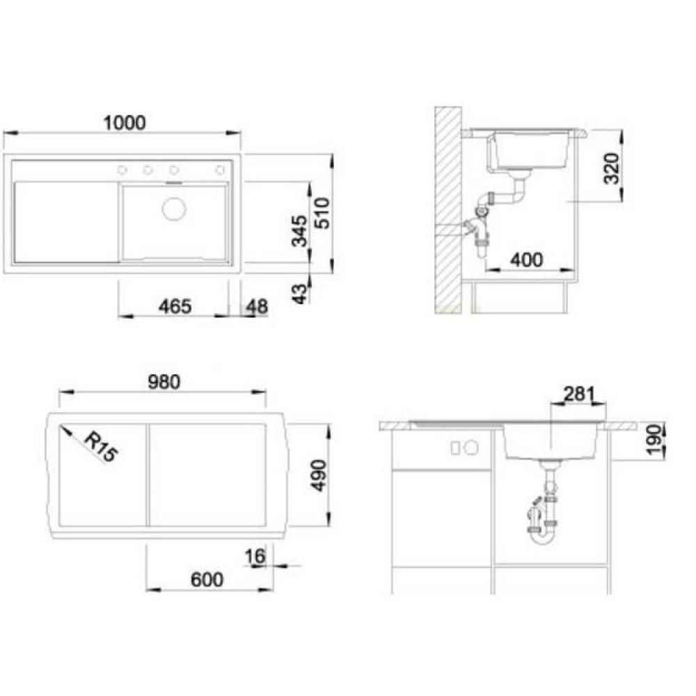 BLANCO ZENAR XL 6 S Silgranit Einbauspüle anthrazit