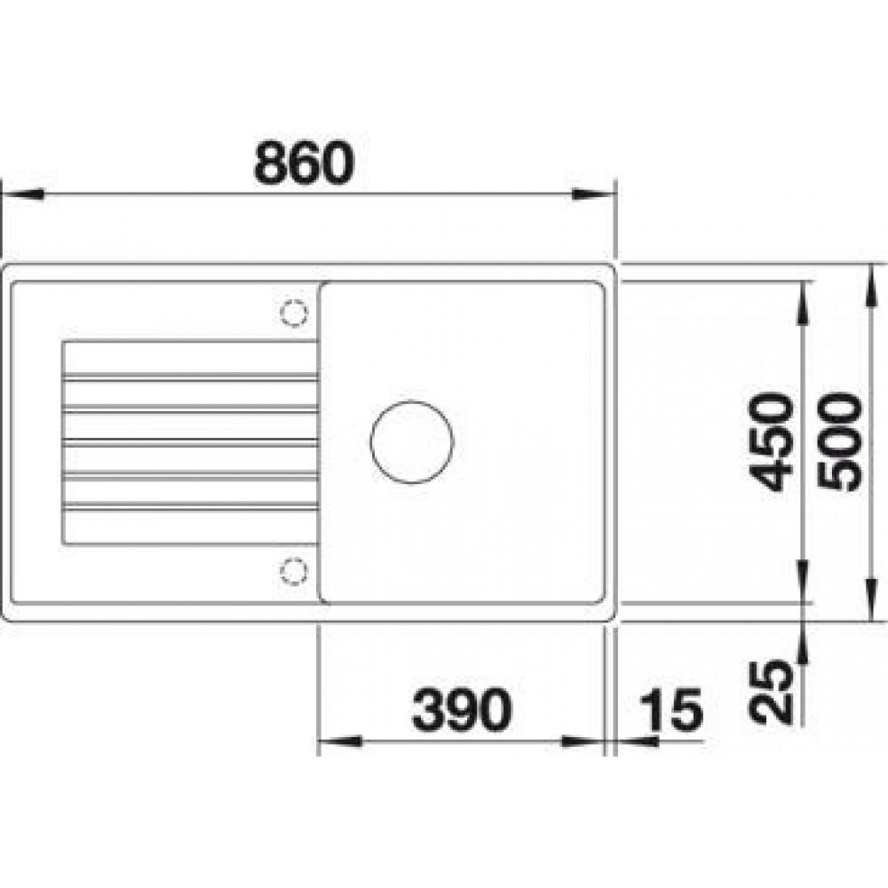 blanco zia 5 s granitsp le perlgrau 520514. Black Bedroom Furniture Sets. Home Design Ideas