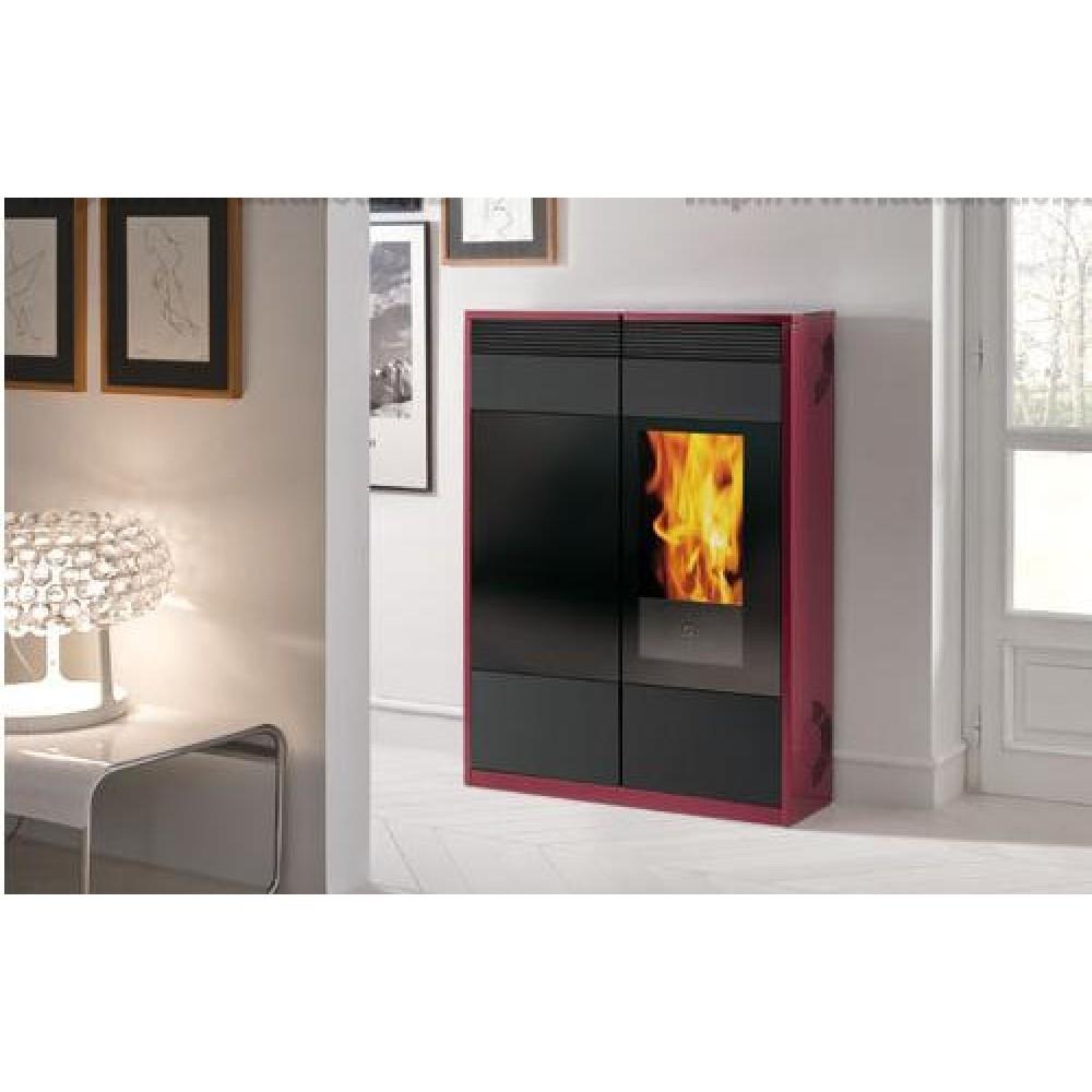 edilkamin kelly pellet kaminofen d nn grau 656100. Black Bedroom Furniture Sets. Home Design Ideas