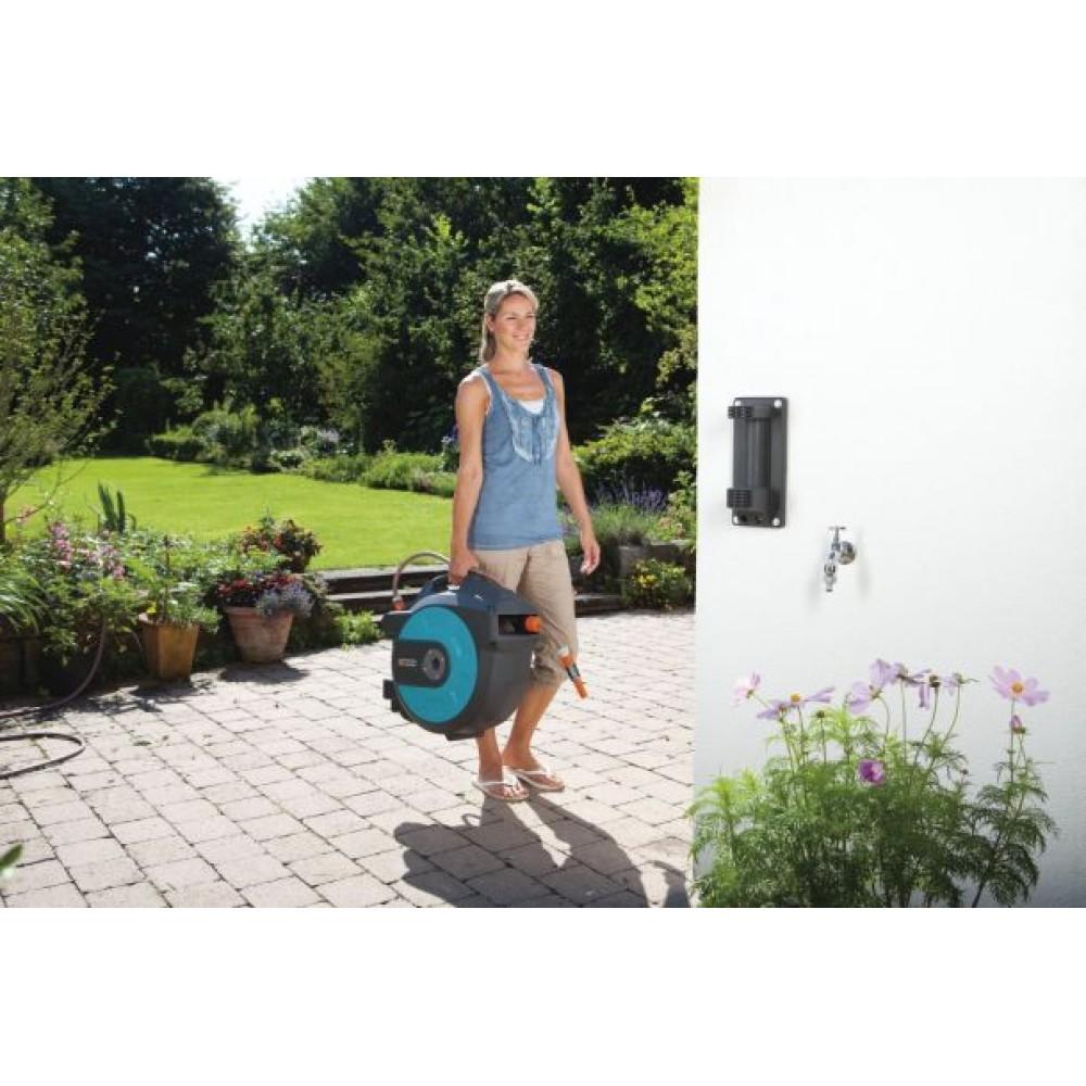 gardena wand schlauchbox 25 roll up automatic 8023 20. Black Bedroom Furniture Sets. Home Design Ideas