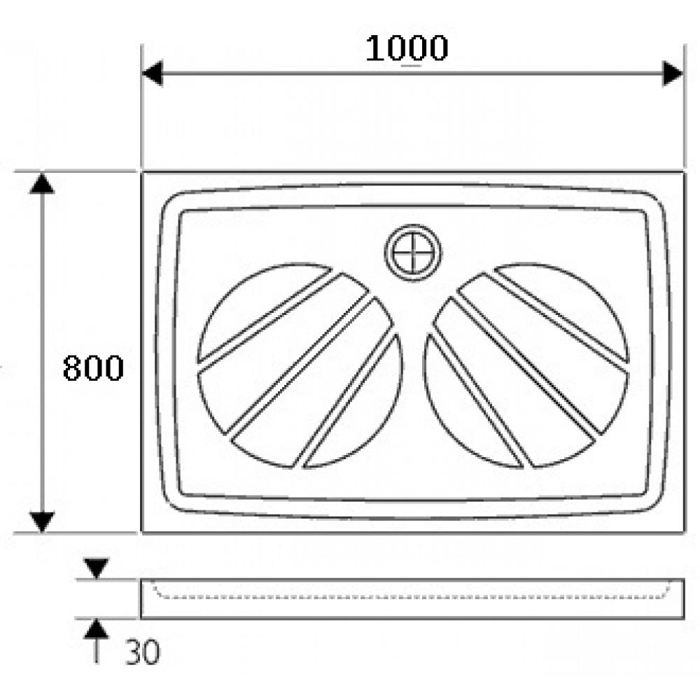 ravak gigant pro duschwanne 80 x 100 xa03a401010. Black Bedroom Furniture Sets. Home Design Ideas