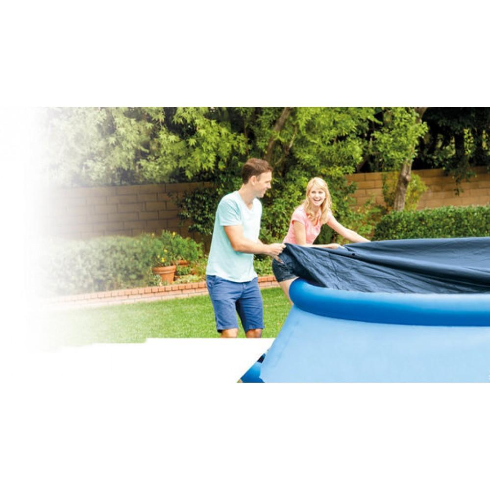 intex abdeckplane rund f r schwimmbecken easy pool durchschnitt 305 cm 28021. Black Bedroom Furniture Sets. Home Design Ideas