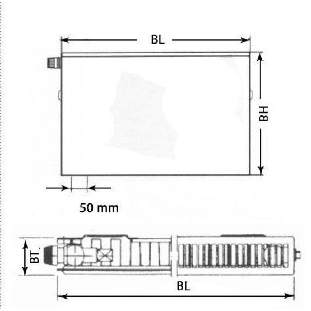 kermi therm x2 plan v heizk rper 11 600 700 ptv110600701l1k. Black Bedroom Furniture Sets. Home Design Ideas