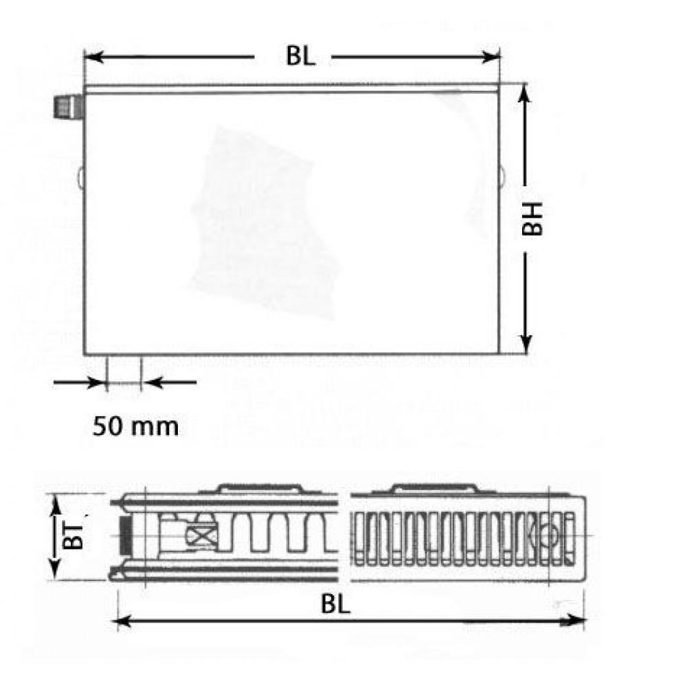 kermi therm x2 plan v heizk rper 12 400 600 ptv120400601l1k. Black Bedroom Furniture Sets. Home Design Ideas