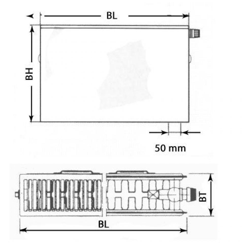 kermi therm x2 plan v heizk rper 22 900 600 ptv220900601r1k. Black Bedroom Furniture Sets. Home Design Ideas