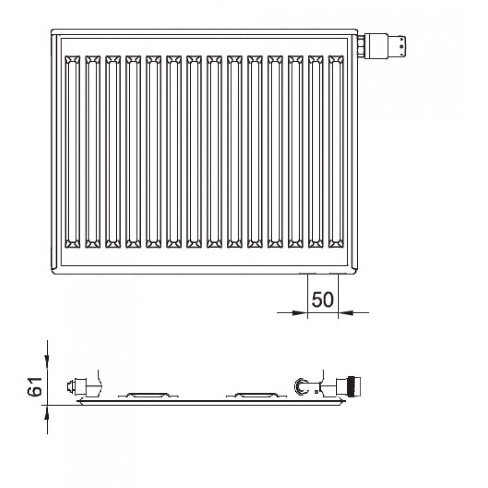 kermi therm x2 profil v heizk rper 10 500 1800. Black Bedroom Furniture Sets. Home Design Ideas