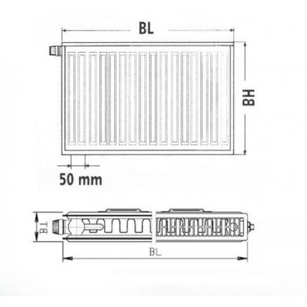 kermi therm x2 profil v heizk rper 12 300 800 ftv120300801r1k. Black Bedroom Furniture Sets. Home Design Ideas