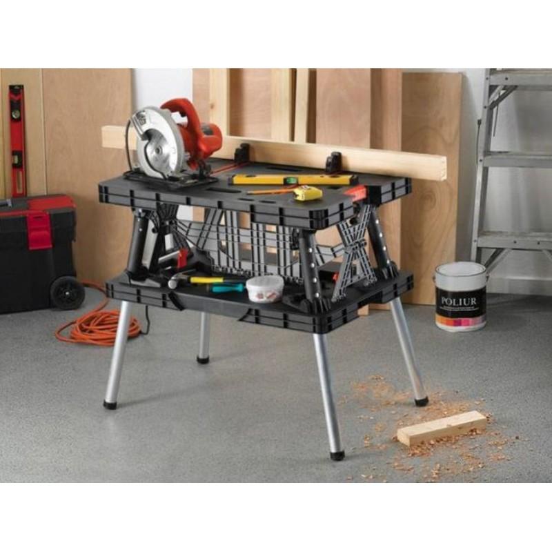 KETER Master Pro Zusammenlegbare Werkbank 85x55x75,5cm ...