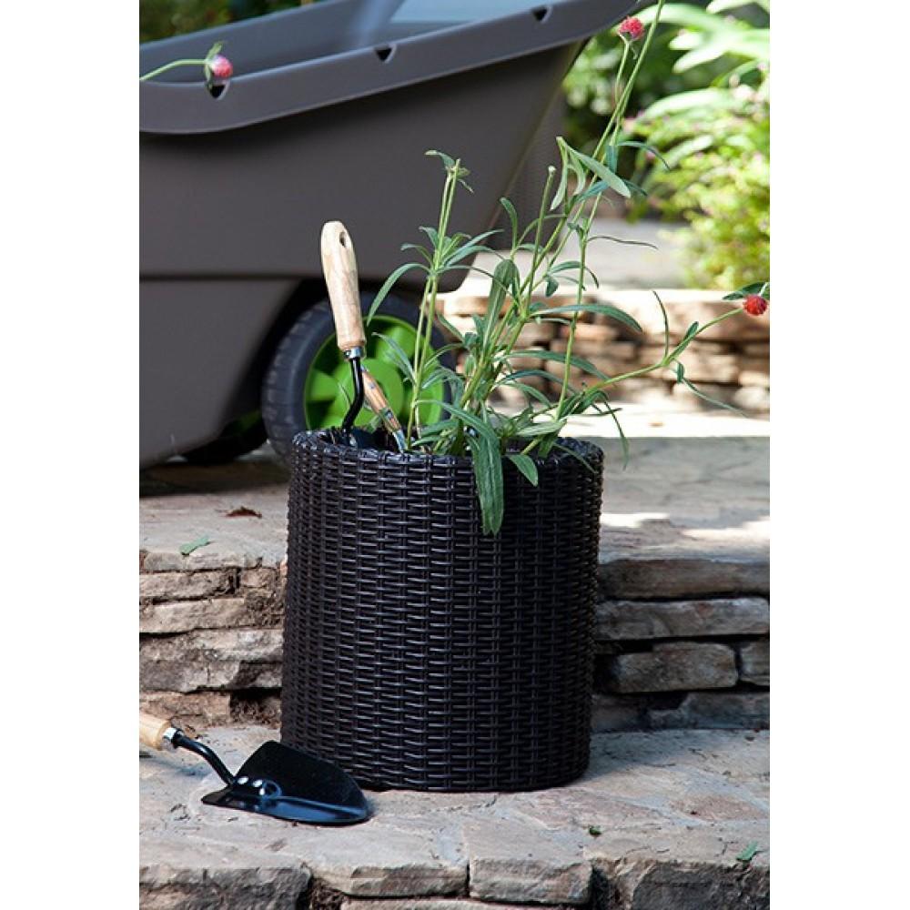 keter medium zylinder planter pflanzk bel anthrazit 17197835. Black Bedroom Furniture Sets. Home Design Ideas